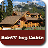 banff log cabin